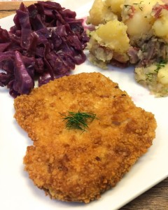 schnitzel with sides