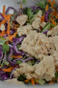 Tuna added to salad http://fearlessdining.com