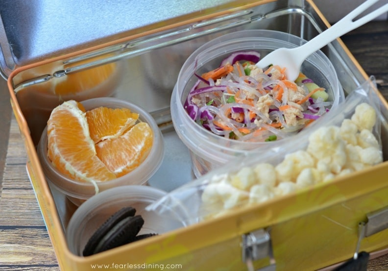 Chilled Tuna Noodle Salad Lunch Box http://fearlessdining.com