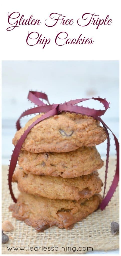 Gluten Free Triple Chip Cookies http://fearlessdining.com