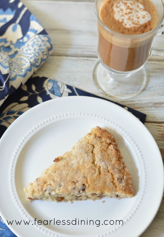 Gluten Free Coconut, Date, and Pecan Scones http://fearlessdining.com
