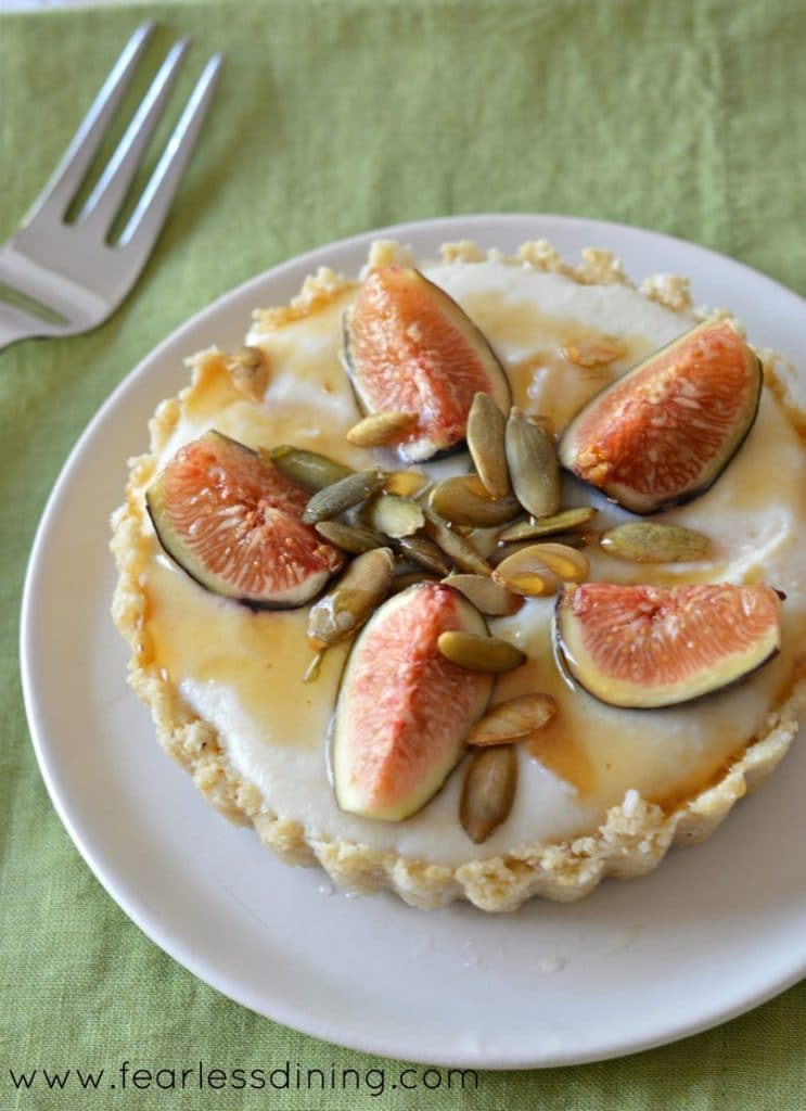 Gluten Free Raw No Bake Fig Tarts image