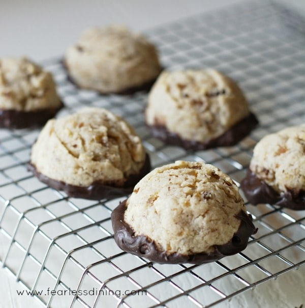 Gluten Free Roasted Chestnut Cookies - Fearless Dining