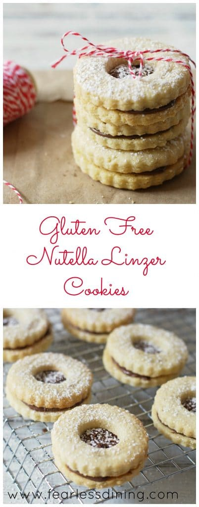 Gluten Free Nutella Linzer Cookies http://fearlessdining.com