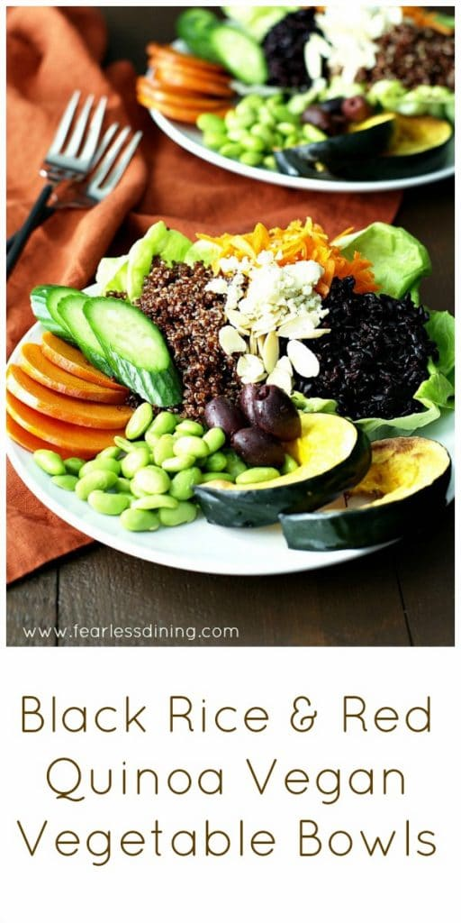 Black Rice and Red Quinoa Vegan Vegetable Bowls found at http ...