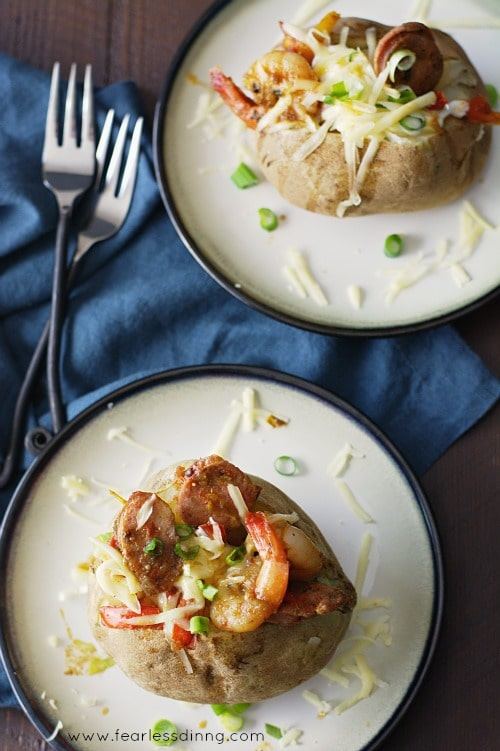 Jambalaya Stuffed Baked Potatoes image