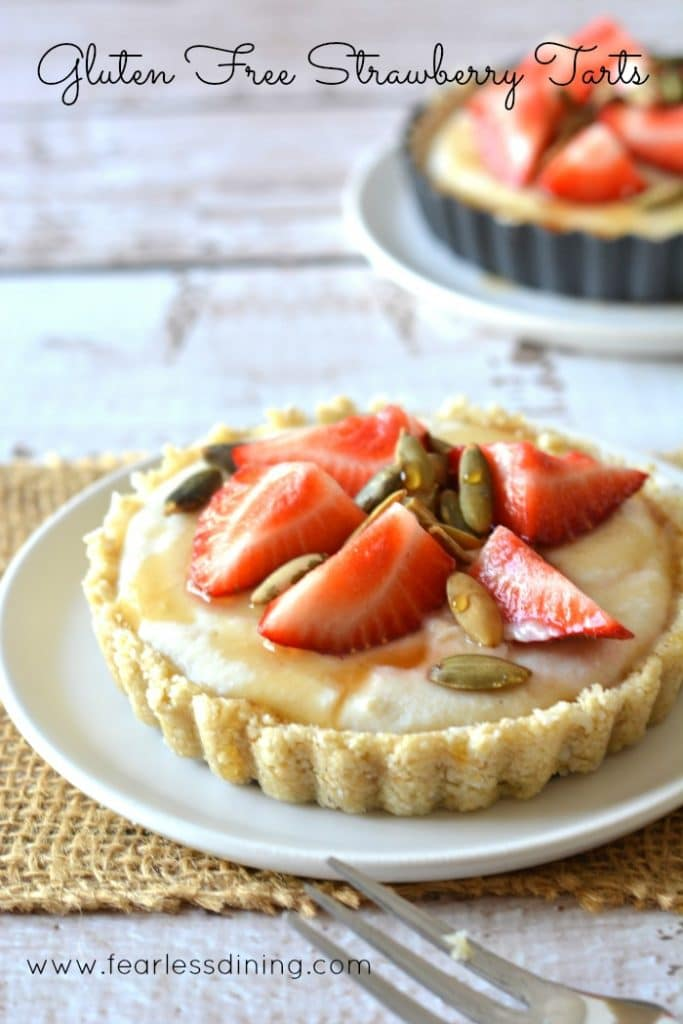 Gluten Free Fresh Strawberry Tarts found at http://www.fearlessdining.com
