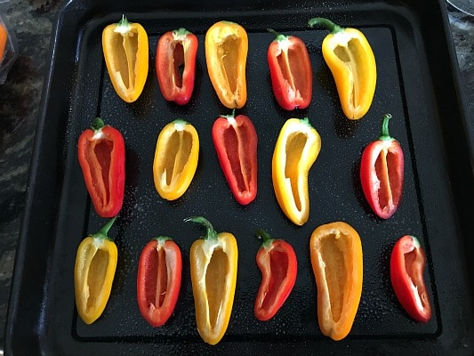 how to store cut sweet peppers