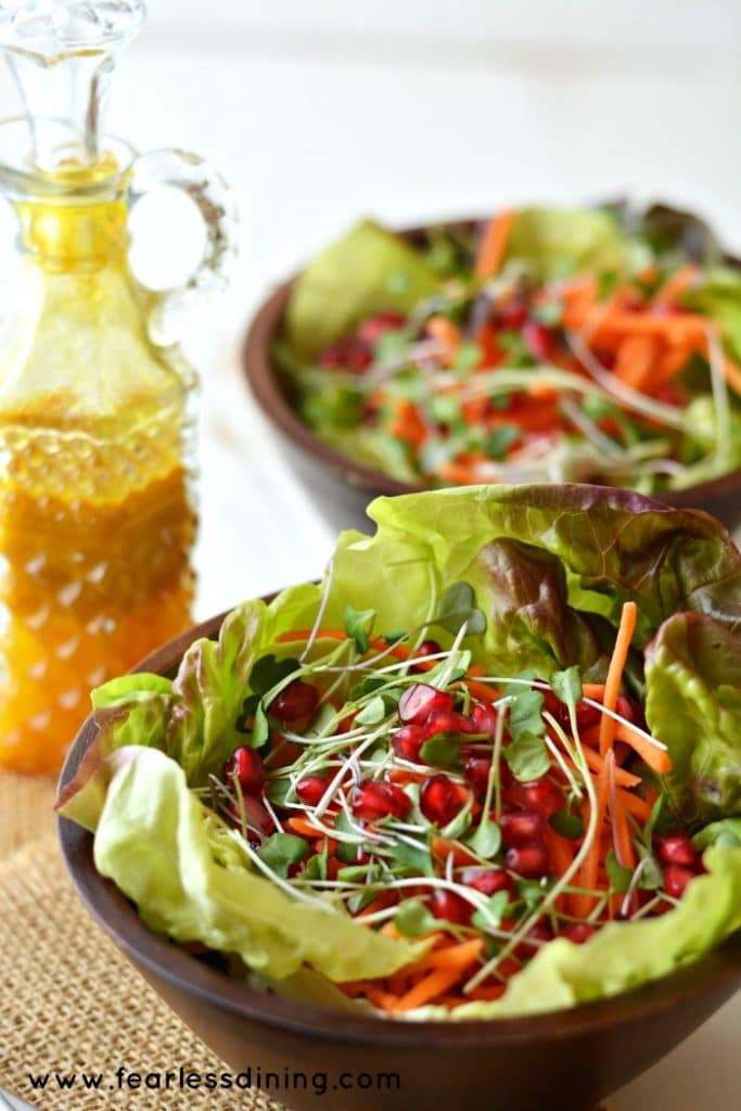 Salad with Turmeric Vinaigrette found at http://www.fearlessdining.com
