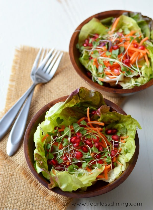 Tossed Salad with Turmeric Vinaigrette found at http://www.fearlessdining.com