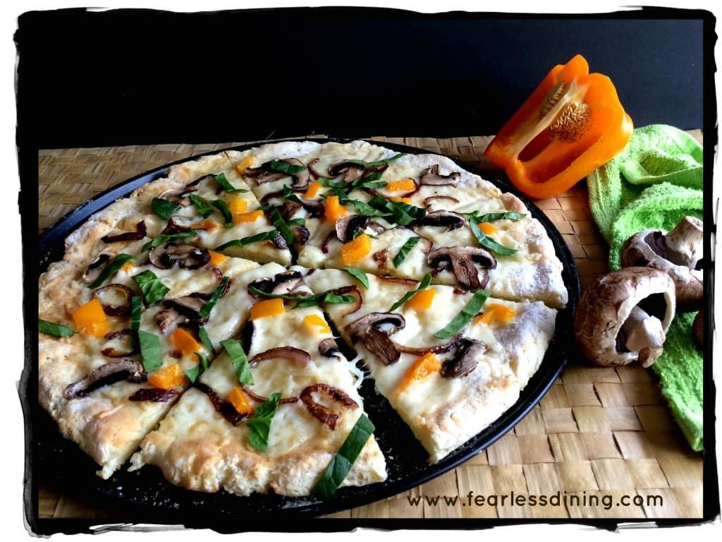 Lungomare's Gluten Free Pizza Crust Recipe http://fearlessdining.com #glutenfree #glutenfreepizza #lungomare