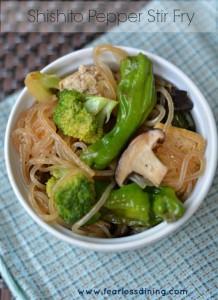 Shishito pepper stir fry vert