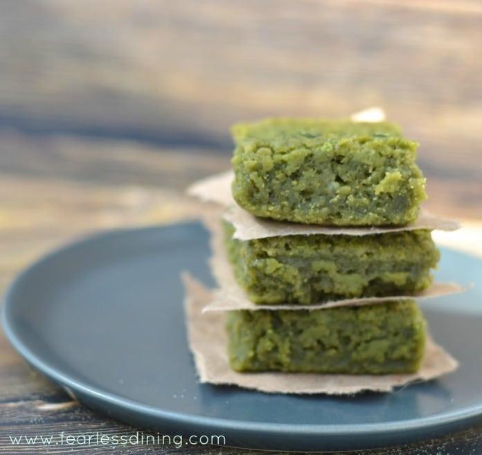 Green Tea Mochi on a plate