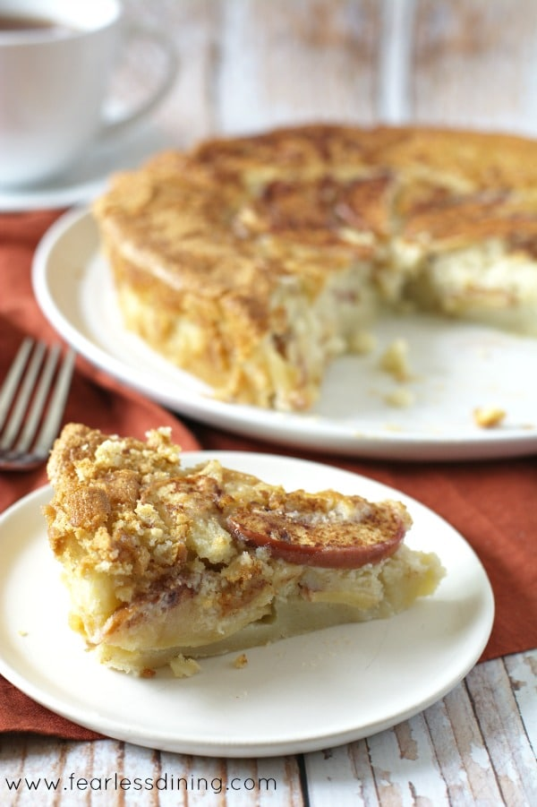 Gluten Free Apple Cake found at http://www.fearlessdining.com
