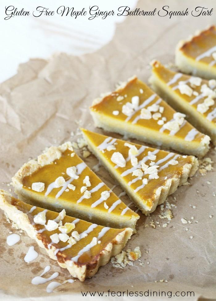 Gluten Free Butternut Squash Maple Ginger Tart http://fearlessdining.com