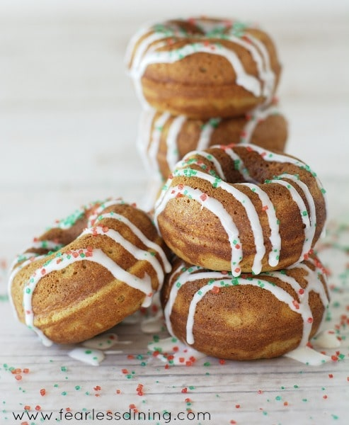 Gluten Free Gingerbread Donuts found at http://www.fearlessdining.com