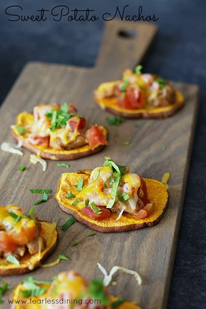 Sweet Potato Nachos found at http://www.fearlessdining.com
